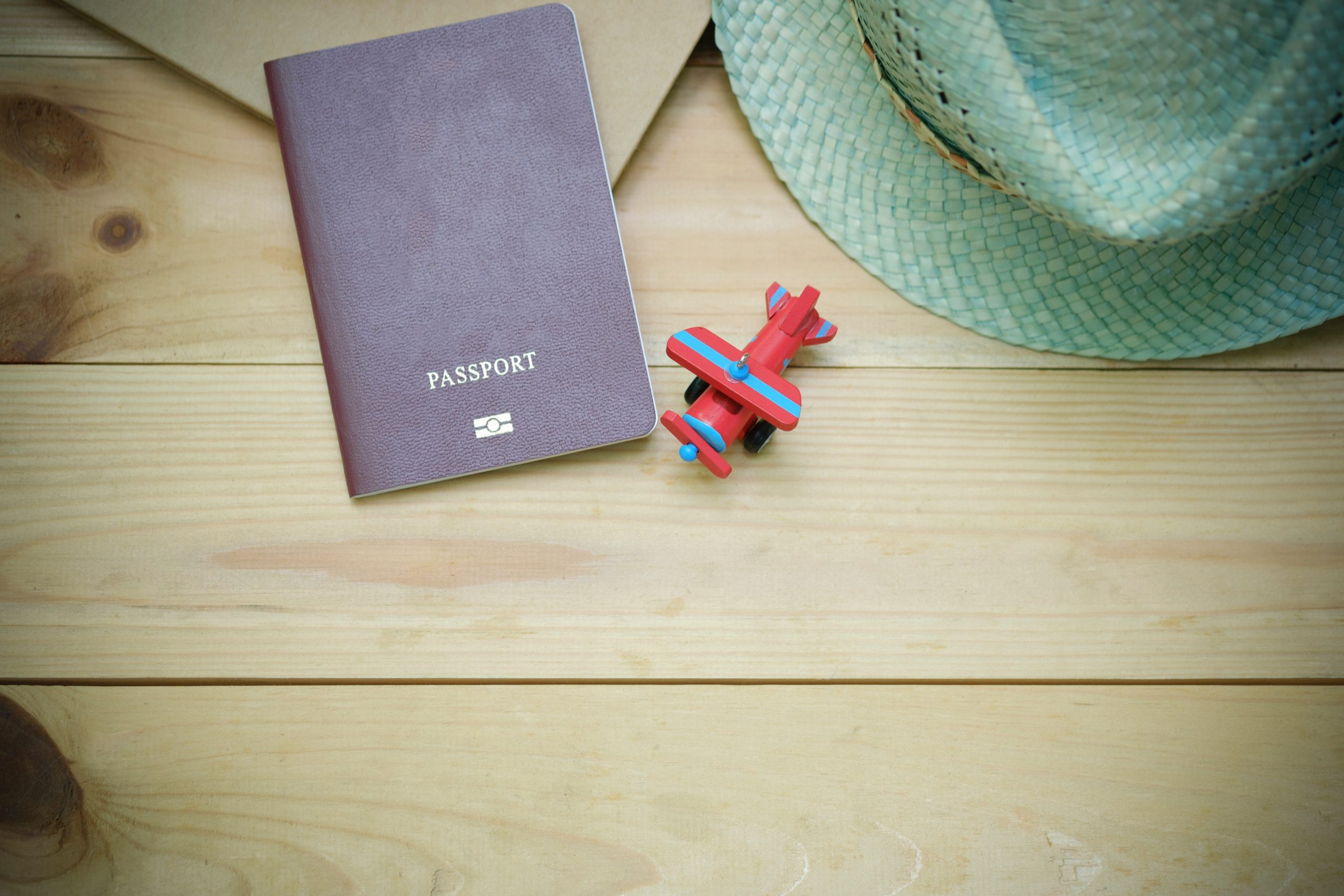 Passport on a table
